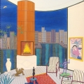 Interior with Brazilier - Image Size : 20x24 Inches