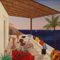 Palapas in Lipari - Image Size : 24x24 Inches