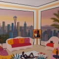 West Interior - Image Size : 24x24 Inches