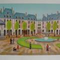 Place des Vosges - Image Size : 18x26 Inches