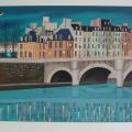 Sous les Ponts de Paris - Image Size : 15x22 Inches
