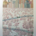 Spring Snow over Central Park - Image Size :18x26 Inches