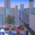 Downtown Terrace - Image Size : 13x18 Inches