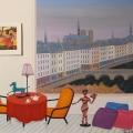 Les Quais de Paris - Image Size : 15x18 Inches