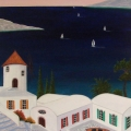Terrace of Samos - Image Size : 11x16 Inches