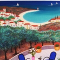Terrace on Olivier - Image Size : 13x16 Inches