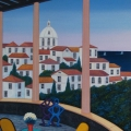 Terrace on Porto - Image Size :13x18 Inches