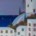 Windmill in Paros - Image Size : 8x24 Inches