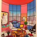 Interior with Lichtenstein - Image Size : 18x21 Inches