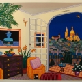 Interior with Magritte - Image Size : 25x30 Inches