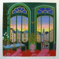 Village Vue du Chateau - Image Size : 14x14 Inches
