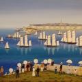 Un Dimanche à St. Malo - Image Size : 18x22 Inches